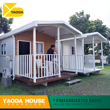 Myanmar low cost prefabricated house hotels modern hotel rooms prefabricated two bedroom prefab villa house