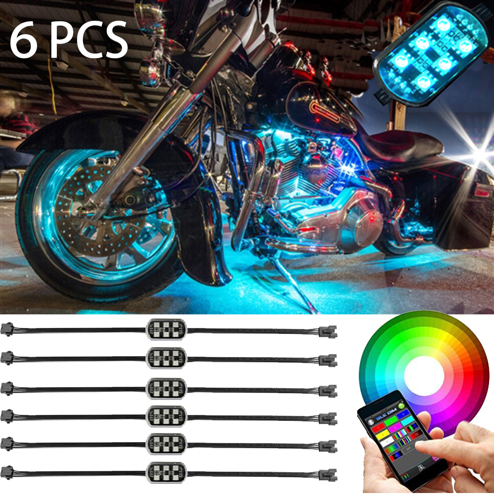 Bluetooth APP Control ler Super Bright RGB LED Pod Light ALL Motorcycle JEEP SUV Pod Rock LED Lightings