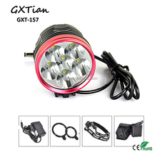 Rechargeable LED Bicycle Lamp / Super Bright Bike Light with 6* 18650 battery packk
