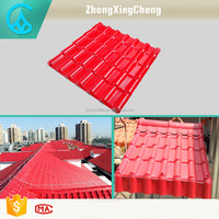 New design french colored anti-aging plastic building long lasting color roof tile synthetic resin roof tile