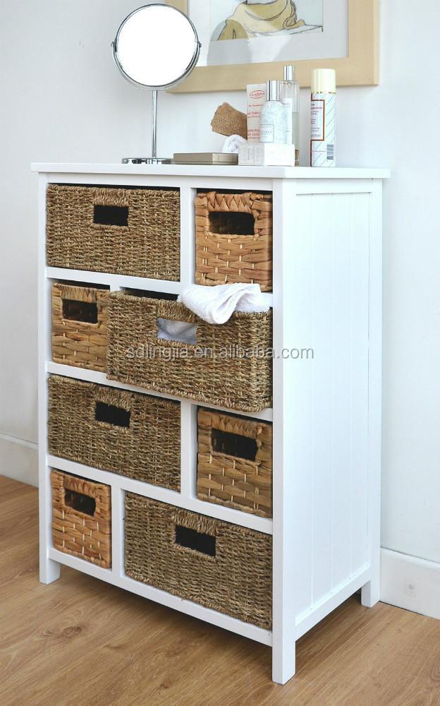 wicker drawers hallway kitchen bathroom storage cabinet buy cabinet