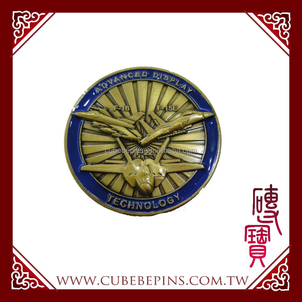 CUBEPIN Specific Brass Gold plated Challenge Coins