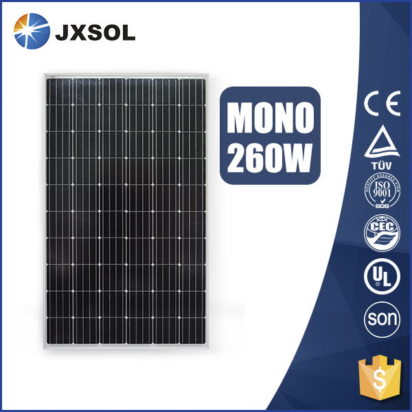 A Grade cell mono silicon photovoltaic panel 260w mono solar panel