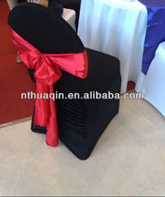 black wedding spandex chair cover stretch chair cover with satin sash