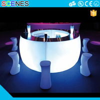 outdoor nightclub led plastic illuminated lighted commercial portable modern led bar counter