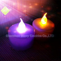 hot sale battery operated flickery flameless plastic color changing multicolor led tealight candle
