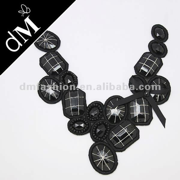 New designs hand beading collar motif for clothing NL-150