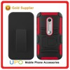 [UPO] Wholesale 3 in 1 Hard Plastic PC Silicon Back Cover with Belt Clip Armor Case for Motorola Moto G3