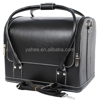 Professional Beauty Box Case Salon Nail Cosmetic Make Up PU Bag