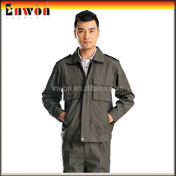 High quality factory uniform safety work two piece coverall coal mine workwear