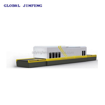 JFG-3624 Double Room flat glass tempering bending furnace with CE for toughen glass produce