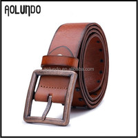 Hot sale !Men's Genuine cowhide leather belt without holes