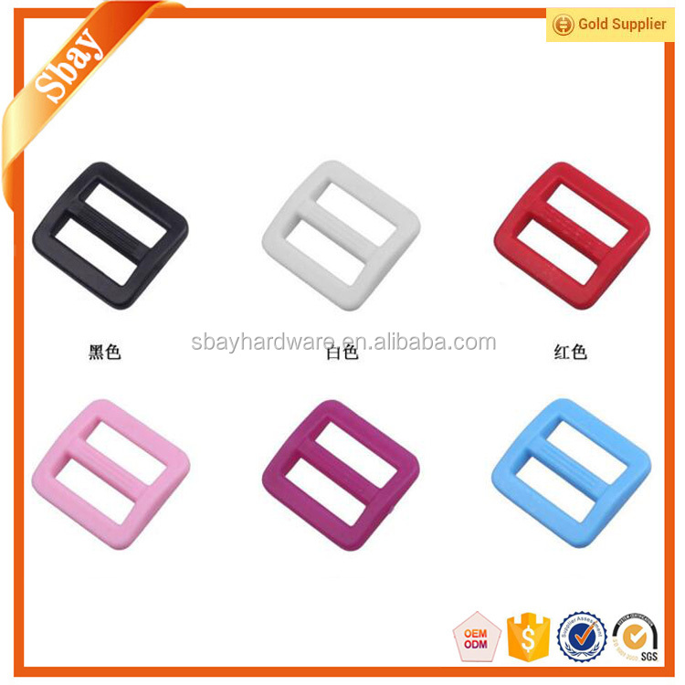 Colored plastic adjustable sliding buckle