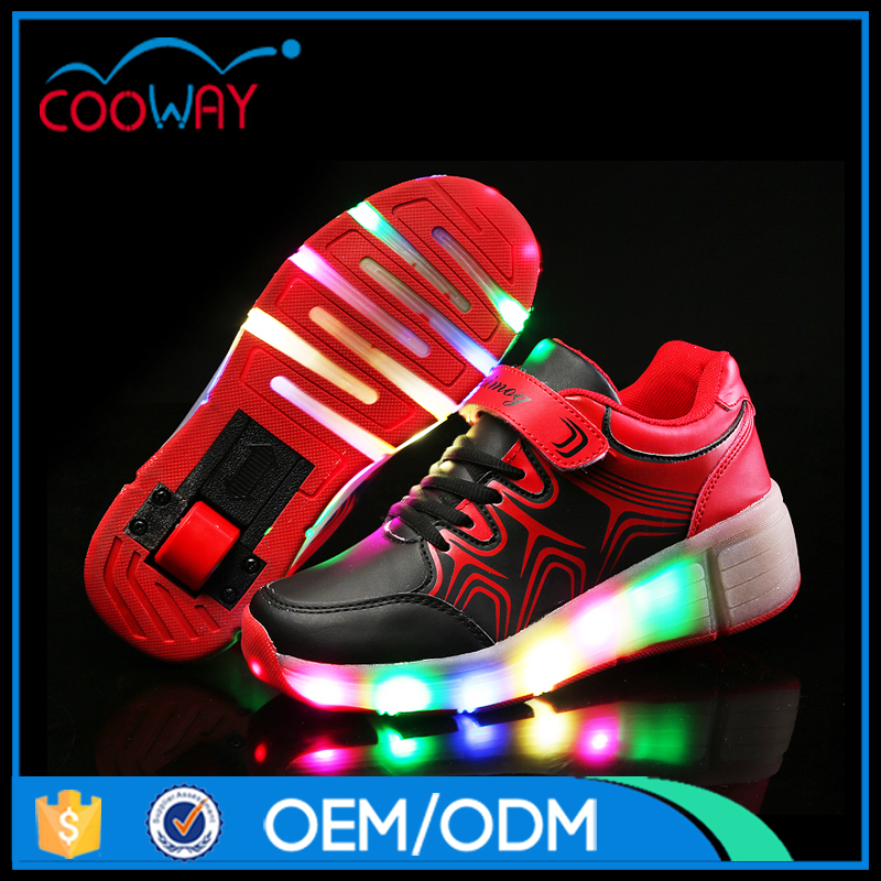 China Factory Wholesale Girls Led Roller Skate Shoes Pu Upper Roller Shoes