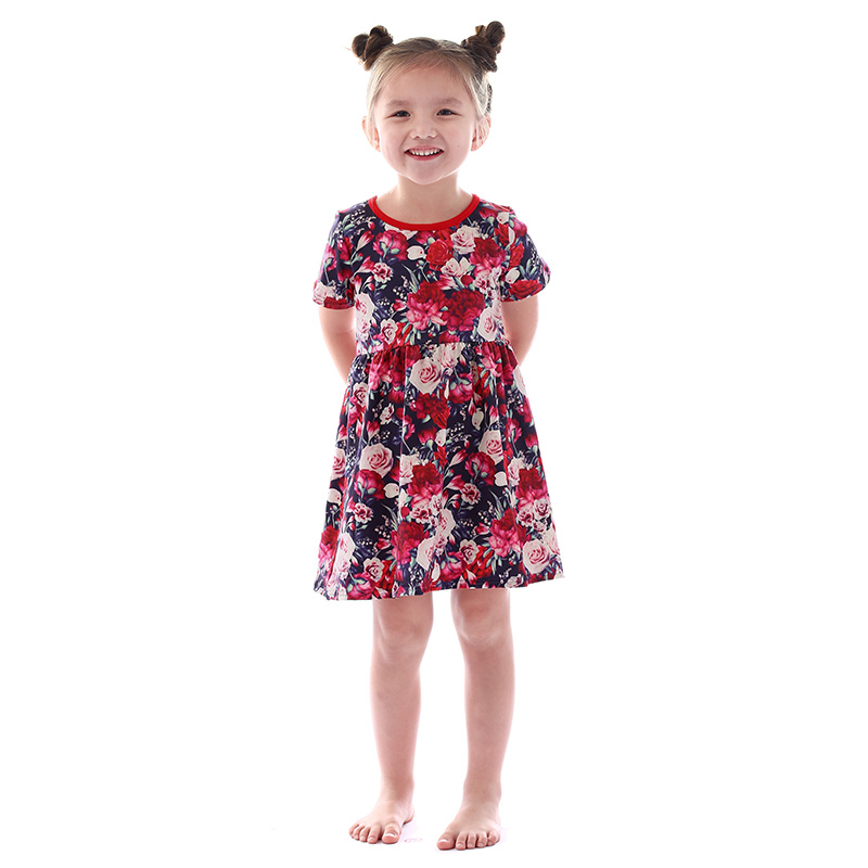 Wholesale children boutique clothing baby girl clothes fashion dress kids