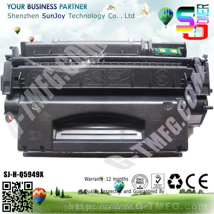 New compatible Black Toner Cartridge Q5949X for hp Laser printer 1160 1320 3390 3392