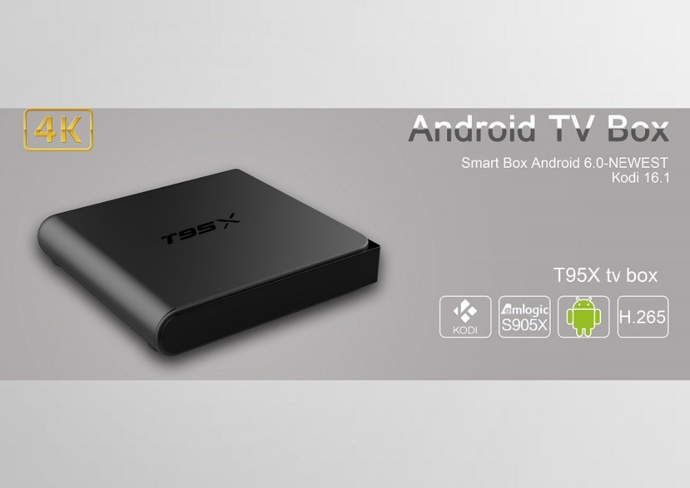 Amlogic S905X Android TV Box T95X Android6.0 Marshmallow Set Top TV Box
