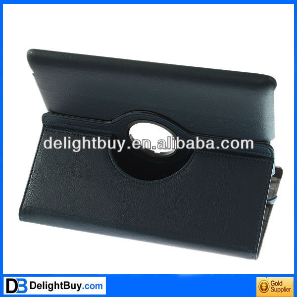 for iPad 2/3 360 Rotating Magnetic Leather Case Smart Cover Stand Blue