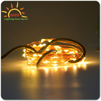 Copper wire custom shaped usb colorful durable safe eco LED flashing string light