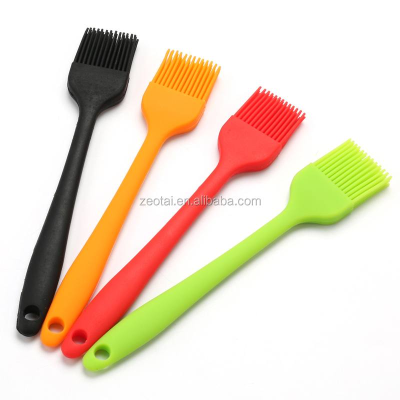 Silicone Basting Brush,Long Stainless Steel Handler Barbecue Utensil,Oil Brush Perfect