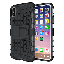 shockproof protective cell phone case for iPhone X, tire pattern armor TPU PC hard case phone cover for iPhone X case