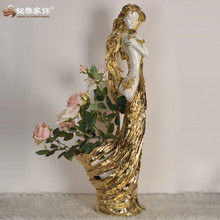 Professional electroplated resin furnishing art polyresin crafts for home decor