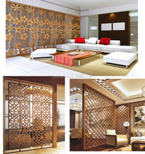 New Design Laser Engraving Stainless Steel Room Divider Partition Screen