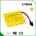 Nicd AA size 4.8V 700mah battery for flash light battery