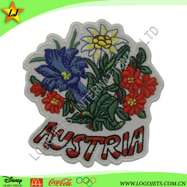 Low price dual channel logo imprint embroidery patch/woven patch/label