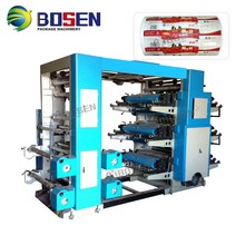 Model YT 6600 YT6800 YT61000 YT61200 6 Colors Felxibale Flexo Flexographic Printing Machine