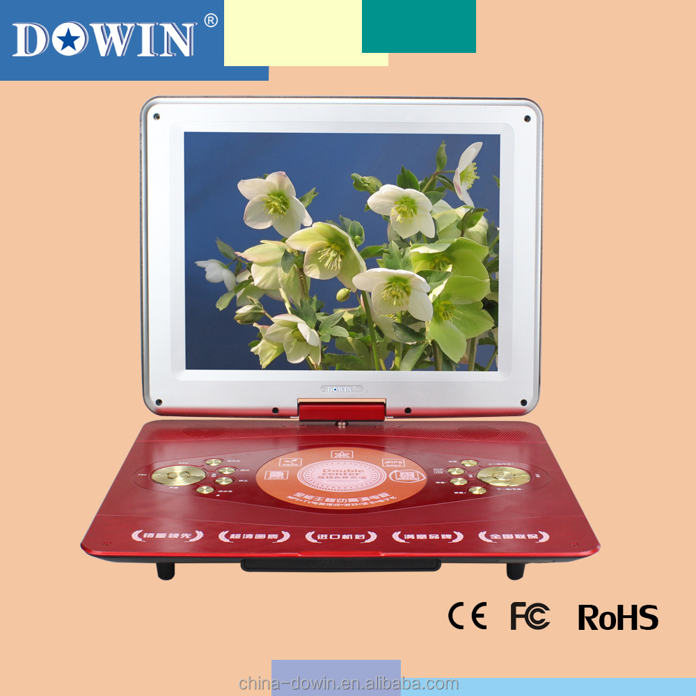 14.1 Inch Mobile DVD Player with TV USB Game FM nice price wholesale batch sale hot sale home car video watch tv sex photos