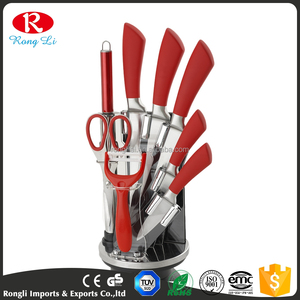 6Pcs Ceramic Kitchen Knife Set With Acrylic Stand