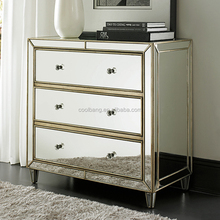 CBM012 top quality antique venetian mirrored dressing table with drawers