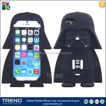 new products 2016 stars wars cute cartoon silicone case for iphone 6/ 6s