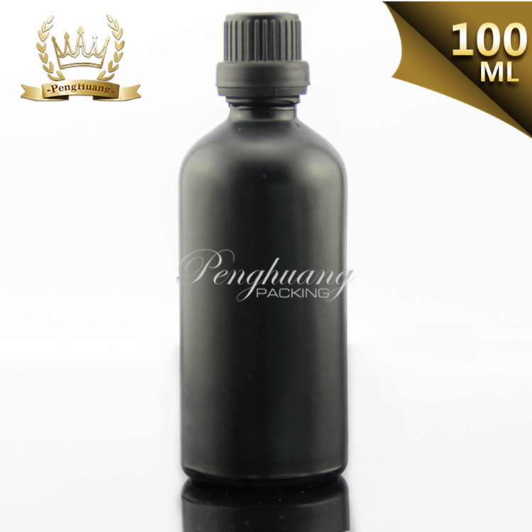 surface handing 100ml frosted black glass bottles with aluminum spray wholesale