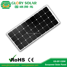 Sunpower Adhesive Marine Semi-Flexible High Efficiency Industries Solar Panel Factory For Trailer Home Boat 120W