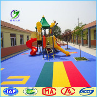 Kindergarten Outdoor Kids Playground Plastic Flooring