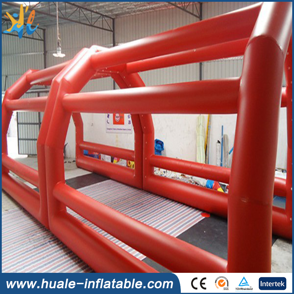 40' ft inflatable batting cage for the sport of cricket