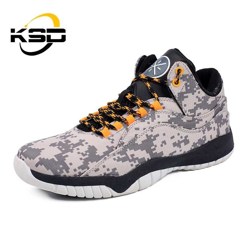 2017 New Arrivals Brand Basketball Shoes Camouflage Men Basketball Shoes Custom Logo Shoes