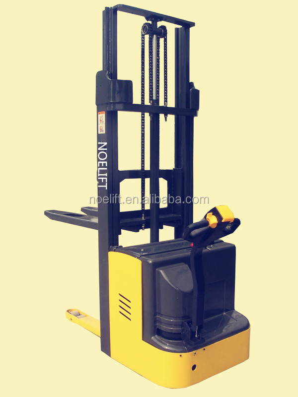1.5ton electric pedestrian stacker, good quality cheap stacker jack/telescope stacker