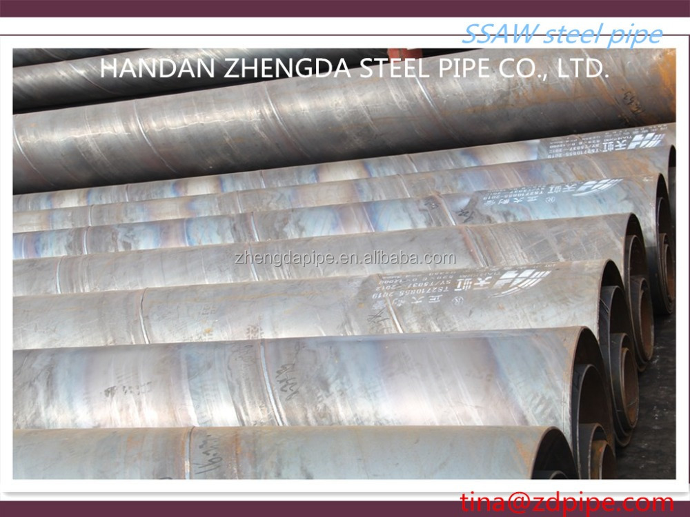 Spiral welded steel pipe API 5L standard
