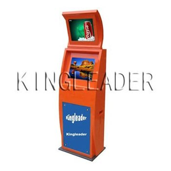 Information two screen kiosk with SAW touchscreen