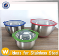 New Design Transparent Lid Stainless Steel Mixing Bowl Set