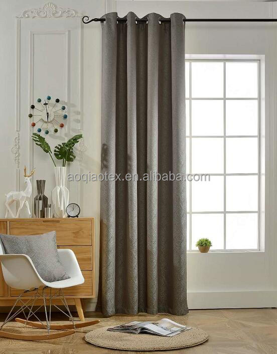 1526-11 BOKO New Design Luxury Jacquard Blackout Grommets Window Panel bedroom blind Curtains