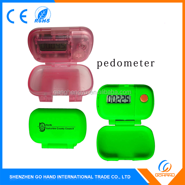 Wholesale Digital LCD Display Mini Dog Pedometer With Flip Cover