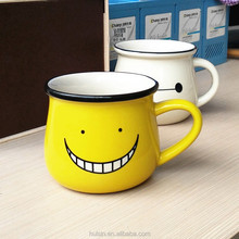 Novelty smile face with tooth coffee mug with rim