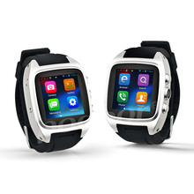 Touch Screen Bluetooth Smart watch Stainless steel camera watch mobile phone