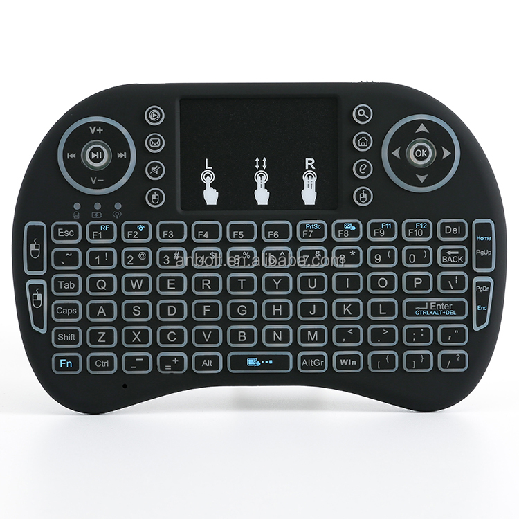 i8 mini keyboard 2.4G wireless air mouse backit LED remote control