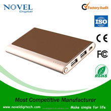 2016 mobile power bank 5000 mah, super silm power bank 5000 mah, leather design power bank 5000 mah