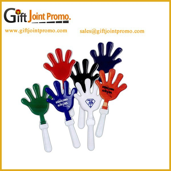 Customized full color Cheernig Hand Clapper, Plastic Noisemaker